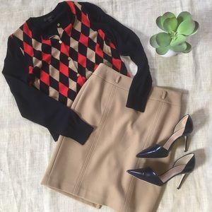 Loft Tan Pencil Skirt
